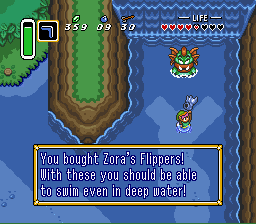 The Legend of Zelda: A Link to the Past/Lake Hylia