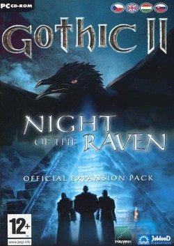 Box artwork for Gothic II: Night of the Raven.