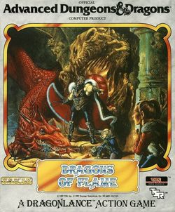 Box artwork for Dragons of Flame.