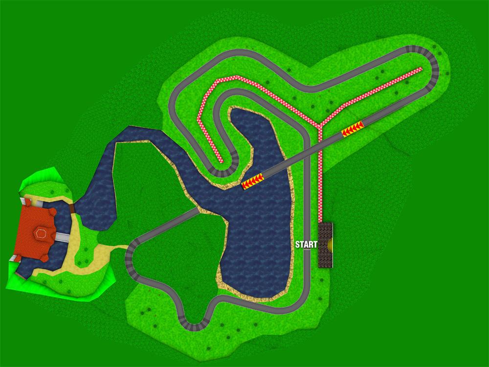 Mario Kart 64 Royal Raceway Strategywiki The Video Game