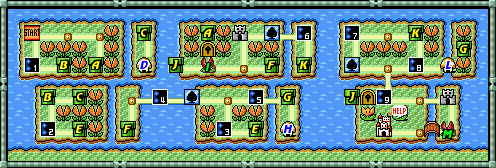 Mario 3 World Map.Super Mario Bros 3 World 7 Strategywiki The Video Game