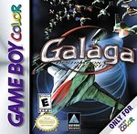 Box artwork for Galaga: Destination Earth.
