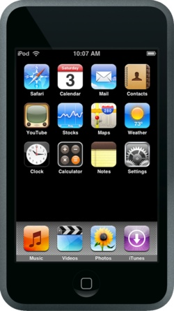 The console image for iPhone / iPod touch.