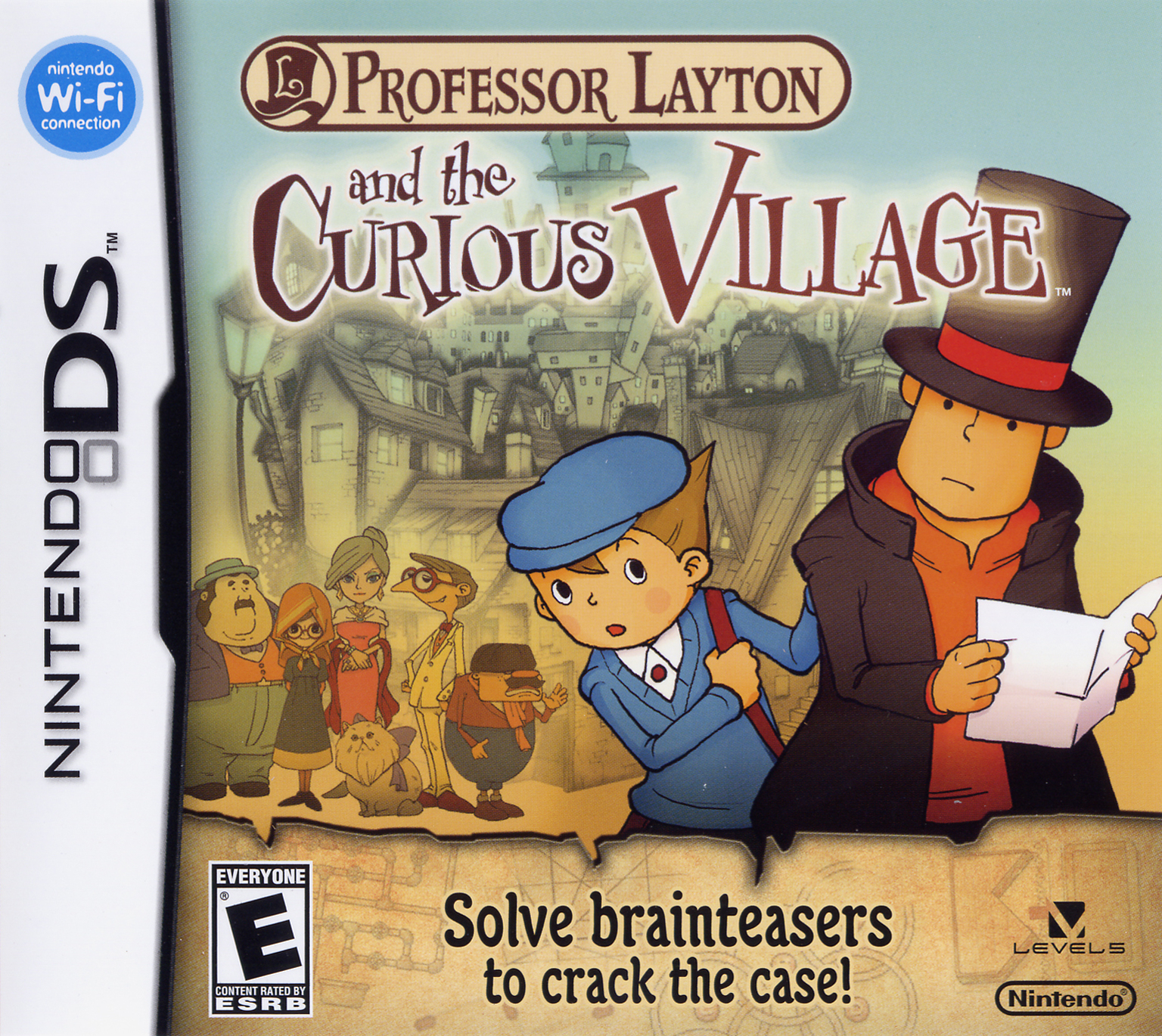 Box artwork for Professor Layton and the Curious Village.