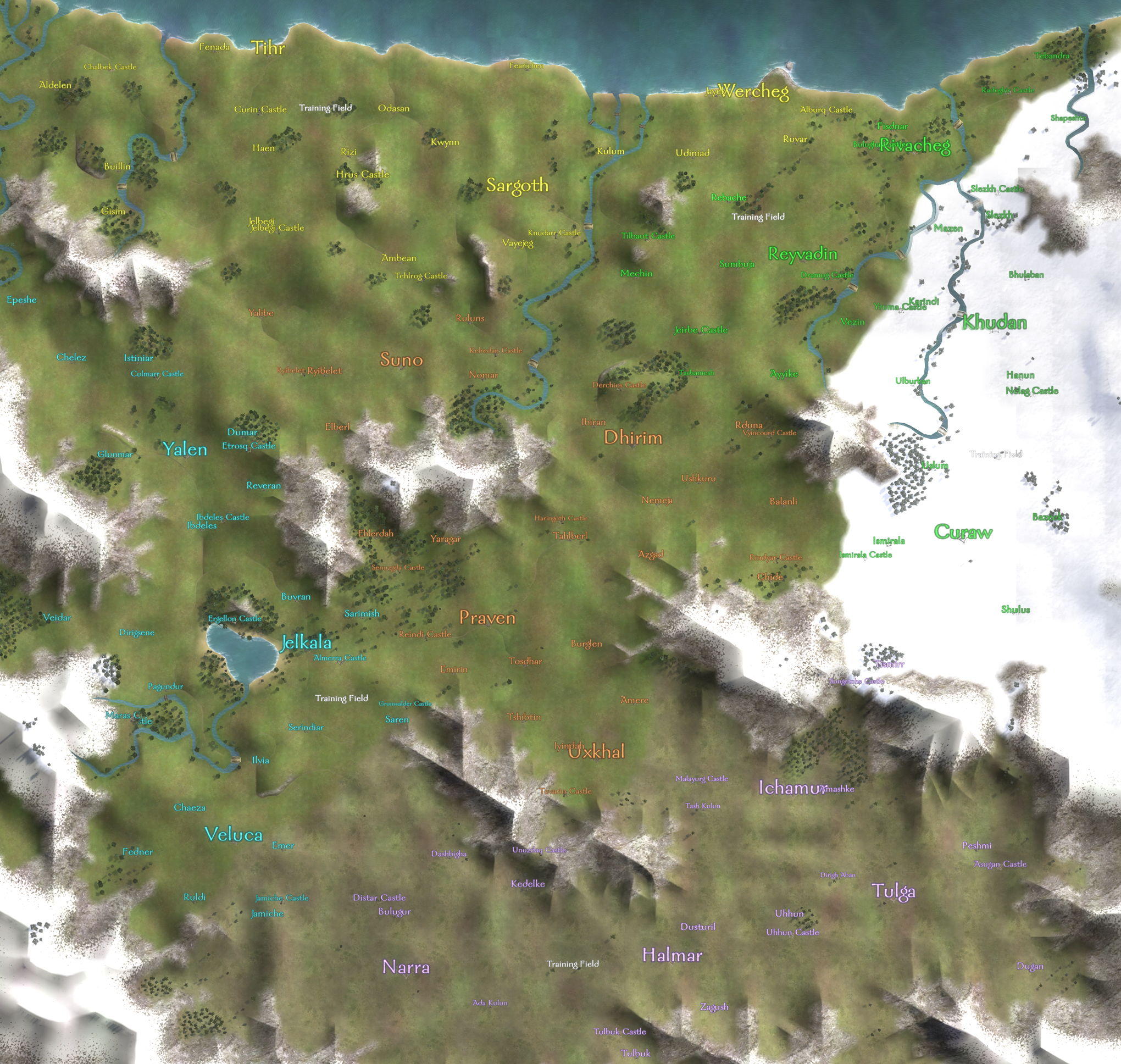Mountblademaps strategywiki the video game walkthrough and the complete world map view or download the full size version gumiabroncs Images