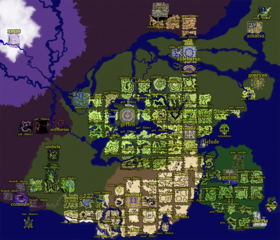 Ragnarok Online World Map Strategywiki The Video Game Walkthrough