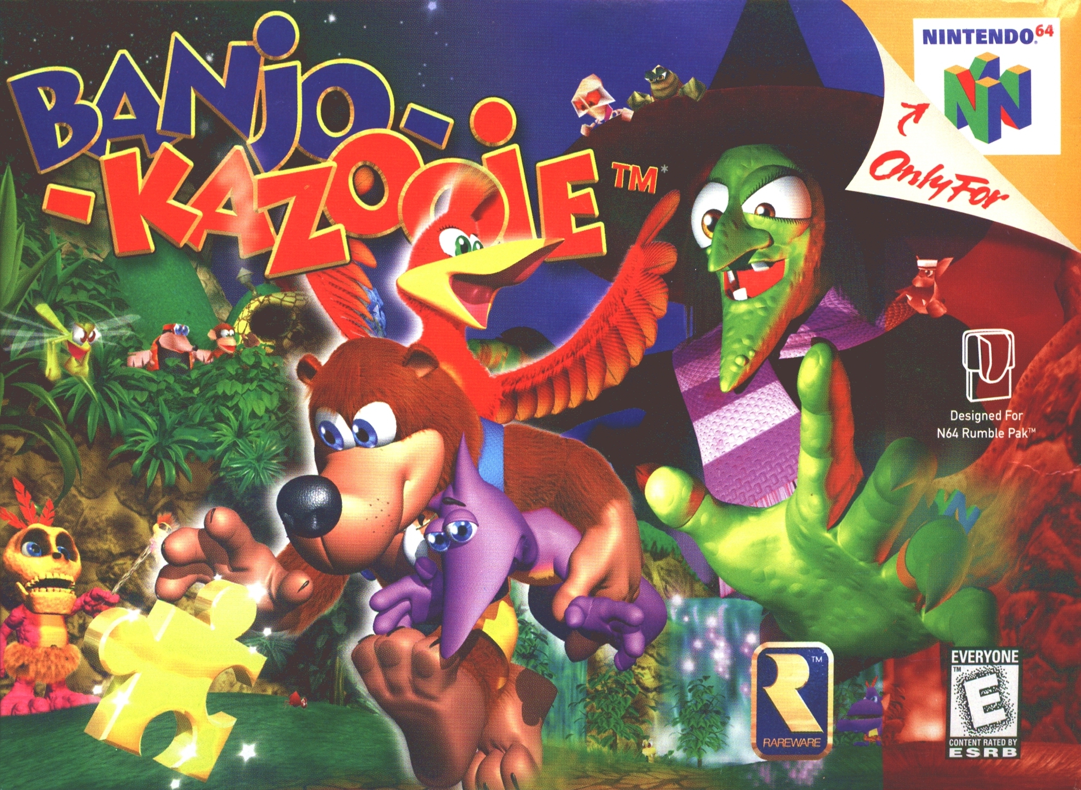 Box artwork for Banjo-Kazooie.