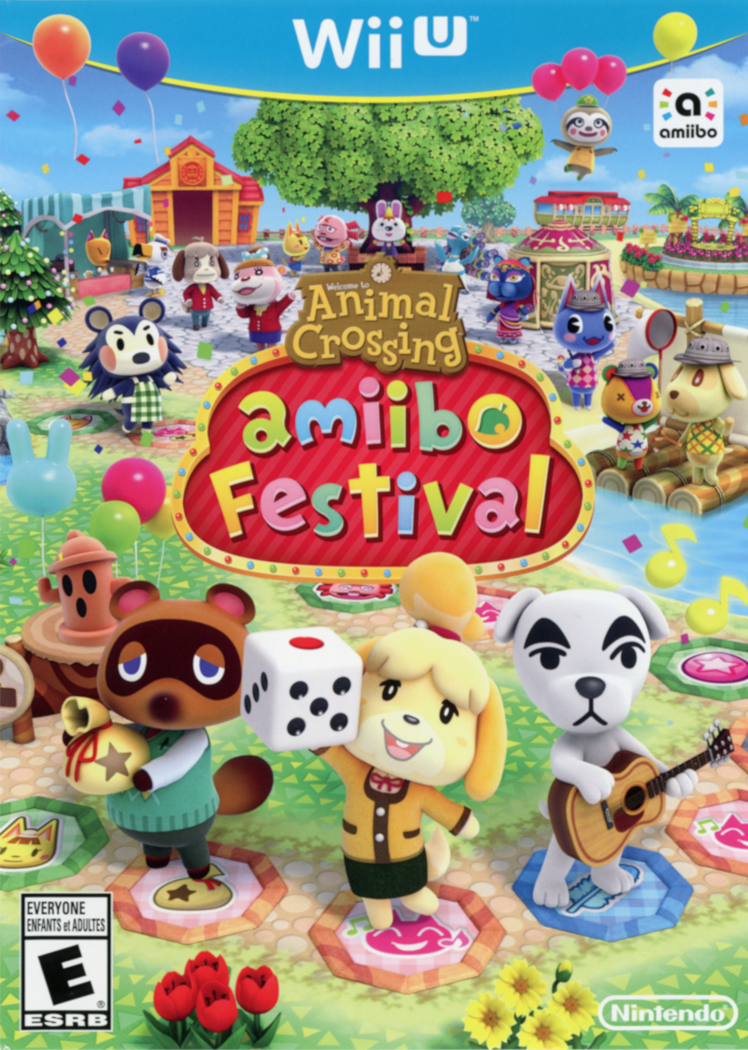 Box artwork for Animal Crossing: amiibo Festival.
