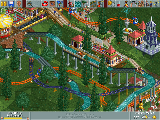 Urban Jungle >> RollerCoaster Tycoon/Gentle Glen — StrategyWiki, the video game walkthrough and strategy guide wiki