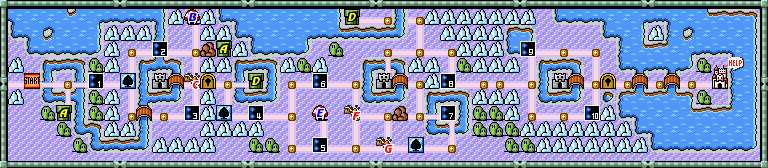 super mario bros 3 world 5 map