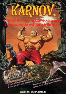 Box artwork for Karnov.