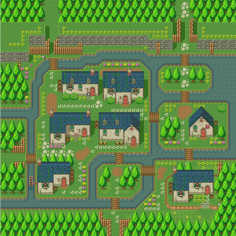 Secret of Mana map Pandora village.png