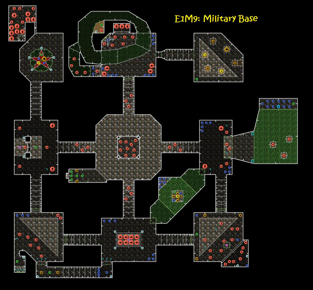 doom  e1m9  military base  u2014 strategywiki  the video game