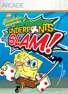 Box artwork for SpongeBob SquarePants: Underpants Slam!.