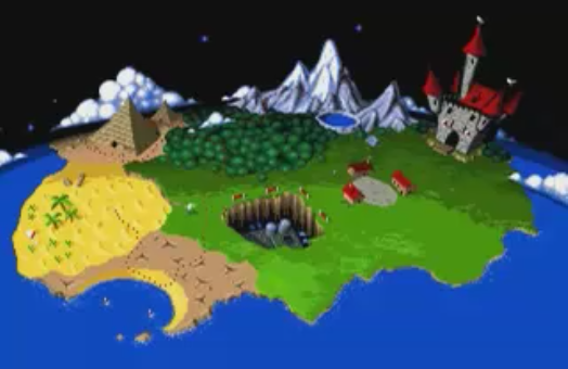 FOTF Overworld Map (World 4 Clear).png