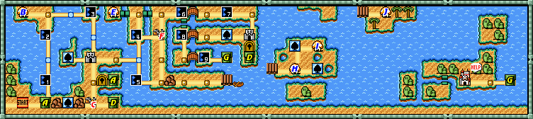 Mario 3 World Map.Super Mario Bros 3 World 3 Strategywiki The Video Game