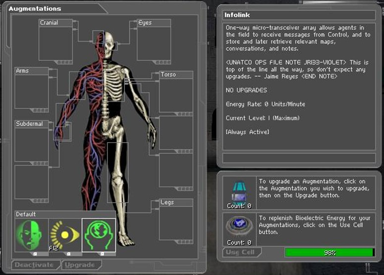 deus ex  augmentations  u2014 strategywiki  the video game walkthrough and strategy guide wiki