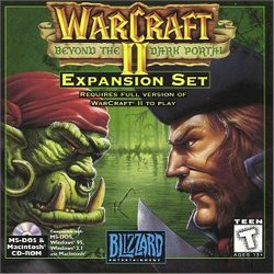Box artwork for Warcraft II: Beyond the Dark Portal.