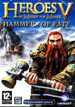 Box artwork for Heroes of Might and Magic V: Hammers of Fate.