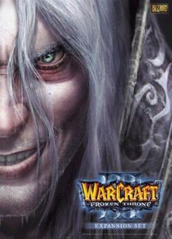 Box artwork for Warcraft III: The Frozen Throne.