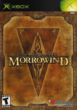 Box artwork for The Elder Scrolls III: Morrowind.