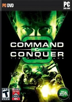 Box artwork for Command & Conquer 3: Tiberium Wars.