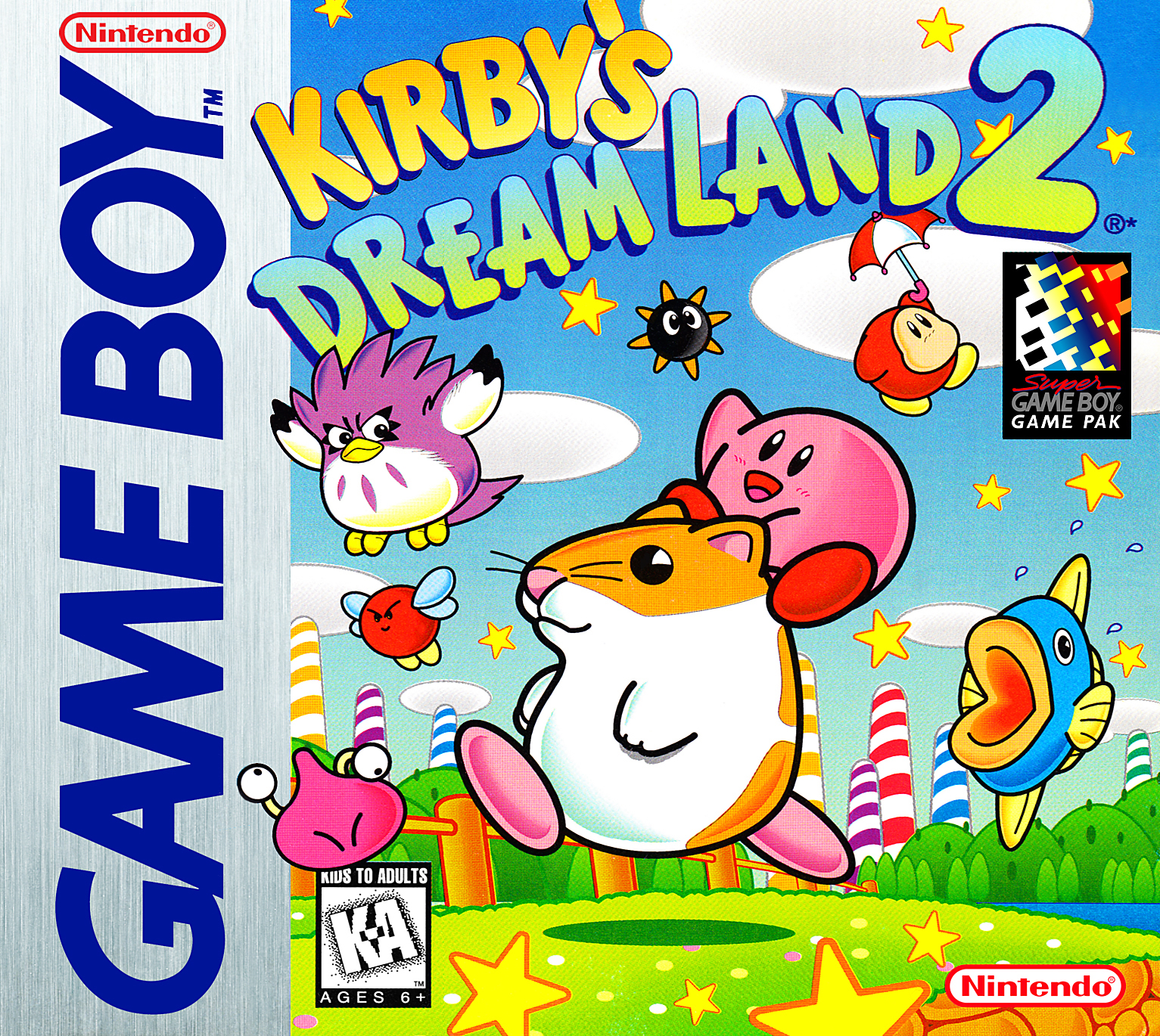 Box artwork for Kirby's Dream Land 2.