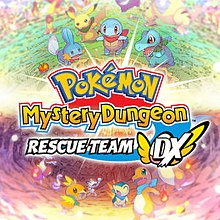 Box artwork for Pokémon Mystery Dungeon: Rescue Team DX.
