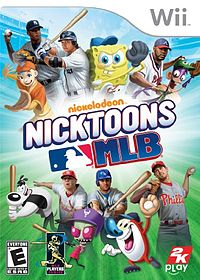 Box artwork for Nicktoons MLB.