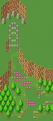Secret of Mana map Haunted Forest path.png