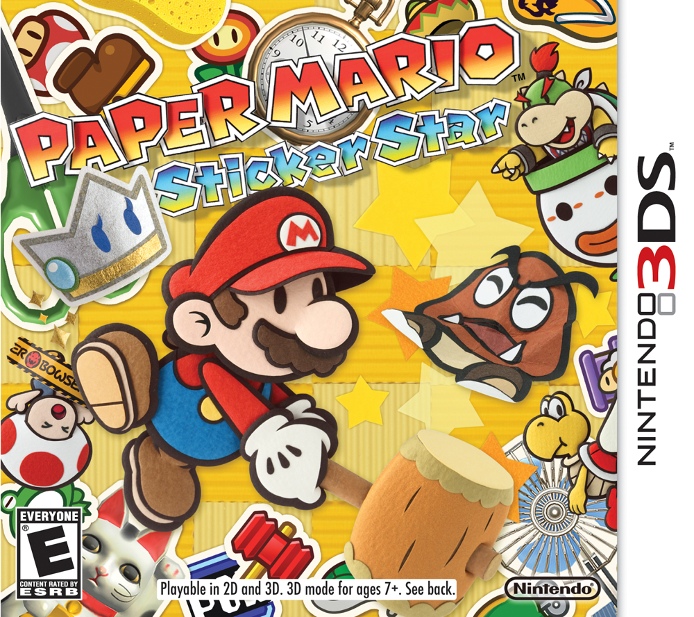 Box artwork for Paper Mario: Sticker Star.