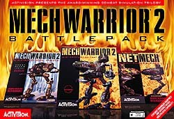 Box artwork for MechWarrior 2 Battlepack.