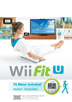 Box artwork for Wii Fit U.