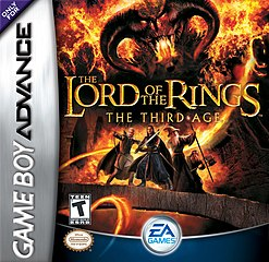 Box artwork for The Lord of the Rings: The Third Age (GBA).