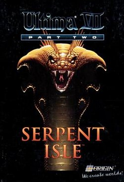 Box artwork for Ultima VII Part Two: Serpent Isle.