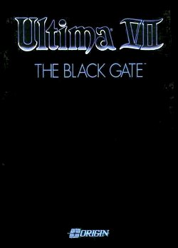 Box artwork for Ultima VII: The Black Gate.