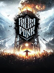 Box artwork for Frostpunk.