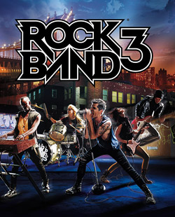 Box artwork for Rock Band 3.