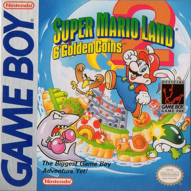 Box artwork for Super Mario Land 2: 6 Golden Coins.
