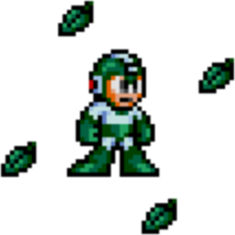 Mega Man 2 weapon sprite Leaf Shield.png