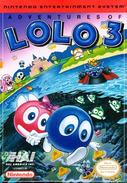 Box artwork for Adventures of Lolo 3.