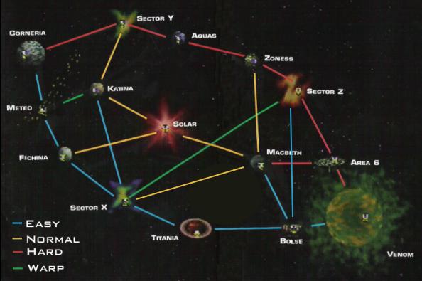 [N64] Lylatwars [mpg] [The Movie] Star_Fox_64_Planet_Map