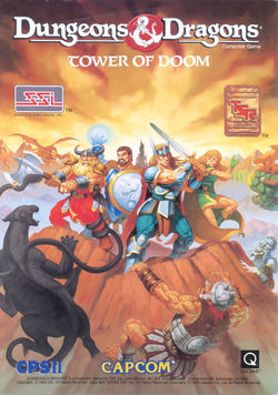 Box artwork for Dungeons & Dragons: Tower of Doom.