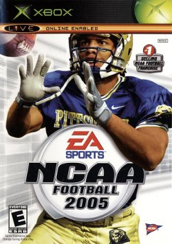 Box artwork for NCAA Football 2005.