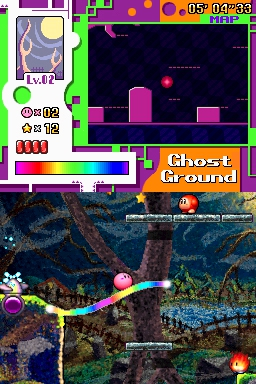 Kirby: Canvas Curse/2-1: Ghost Grounds — StrategyWiki, the