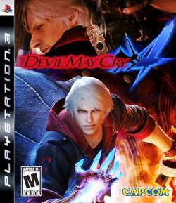 Box artwork for Devil May Cry 4.