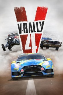 Box artwork for V-Rally 4.