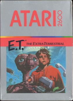 Box artwork for E.T. The Extra-Terrestrial.