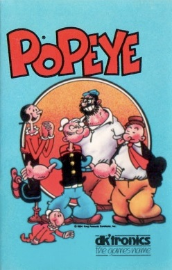 Box artwork for Popeye (1985).