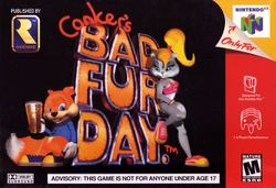 Box artwork for Conker's Bad Fur Day.